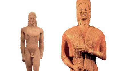 O «ενταφιασμός» επιτύμβιων αρχαϊκών αγαλμάτων