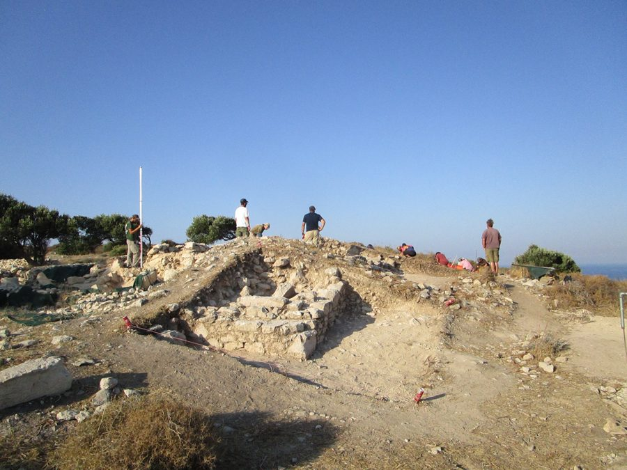 Αποκάλυψη κτηρίου του 4ου αι. μ.Χ. στην ακρόπολη του Κουρίου