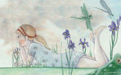 Ένα κορίτσι φτερουγίζει στον Κεραμεικό