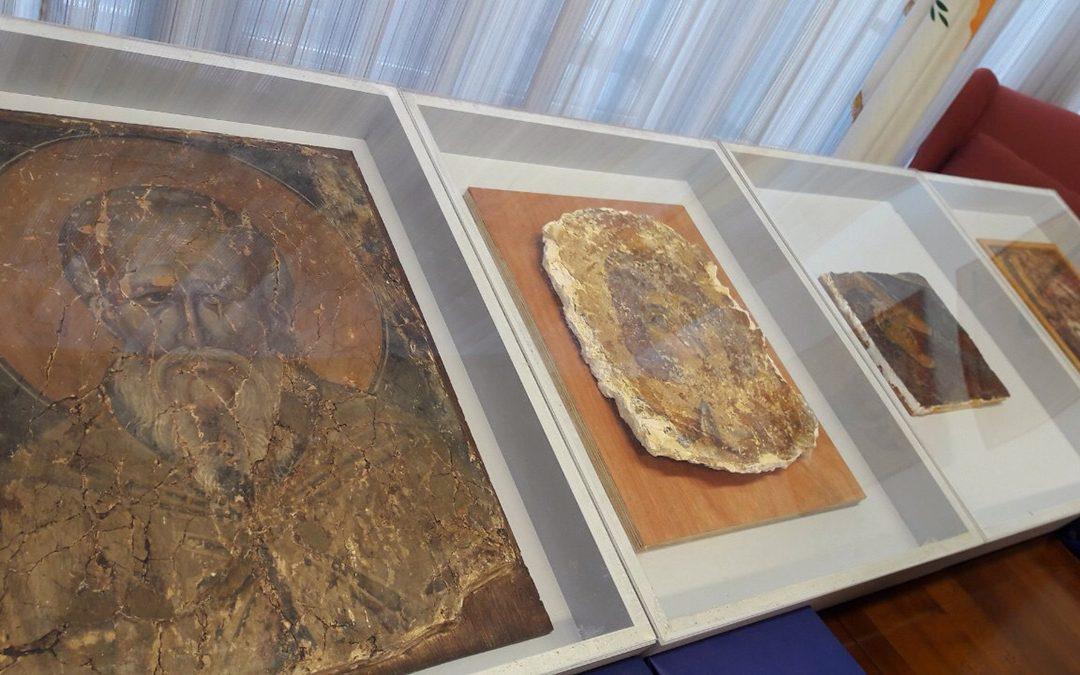 Επαναπατρισμός τεσσάρων τοιχογραφιών από τη Μονή της Παναγιάς Αψινθιώτισσας στο Συγχαρί και από άλλες εκκλησίες της κατεχόμενης Κύπρου