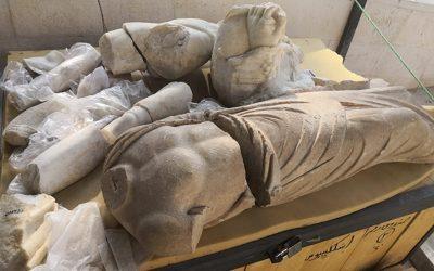 Στη Γέρασα της Ιορδανίας βρέθηκαν γλυπτά αρχαίων ελληνικών θεών και των Εννέα Μουσών